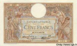 100 Francs LUC OLIVIER MERSON type modifié FRANCE  1938 F.25.34 SUP+