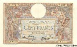 100 Francs LUC OLIVIER MERSON type modifié FRANCE  1938 F.25.34 SUP