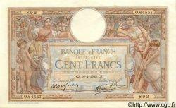 100 Francs LUC OLIVIER MERSON type modifié FRANCE  1939 F.25.43 pr.SPL