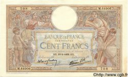 100 Francs LUC OLIVIER MERSON type modifié FRANCE  1939 F.25.43 SUP