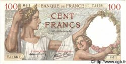 100 Francs SULLY FRANCE  1939 F.26.07