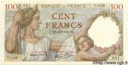 100 Francs SULLY FRANCE  1939 F.26.07 SPL