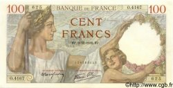 100 Francs SULLY FRANCE  1939 F.26.14 SUP