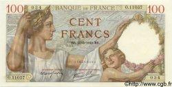 100 Francs SULLY FRANCE  1940 F.26.30 NEUF