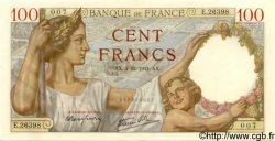 100 Francs SULLY FRANCE  1941 F.26.62 SPL+