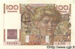 100 Francs JEUNE PAYSAN FRANCE  1953 F.28.36 SPL