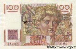 100 Francs JEUNE PAYSAN FRANCE  1954 F.28.42 NEUF