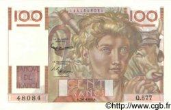 100 Francs JEUNE PAYSAN filigrane inversé FRANCE  1954 F.28bis.04 SPL