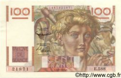 100 Francs JEUNE PAYSAN filigrane inversé FRANCE  1954 F.28bis.05 SPL+