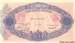 500 Francs BLEU ET ROSE FRANCE  1921 F.30.- NEUF