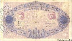 500 Francs BLEU ET ROSE FRANCE  1911 F.30.19 B+