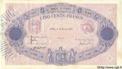 500 Francs BLEU ET ROSE FRANCE  1915 F.30.22 TTB+