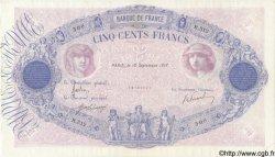 500 Francs BLEU ET ROSE FRANCE  1917 F.30.23 TTB+