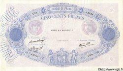 500 Francs BLEU ET ROSE modifié FRANCE  1937 F.31.01 TTB+