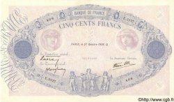 500 Francs BLEU ET ROSE modifié FRANCE  1938 F.31.21 SUP+