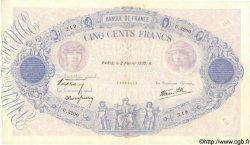 500 Francs BLEU ET ROSE modifié FRANCE  1939 F.31.24 pr.SUP