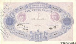 500 Francs BLEU ET ROSE modifié FRANCE  1939 F.31.31 SUP