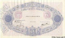 500 Francs BLEU ET ROSE modifié FRANCE  1939 F.31.46 pr.SPL