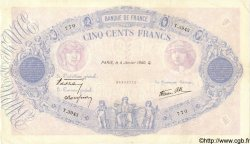 500 Francs BLEU ET ROSE modifié FRANCE  1940 F.31.55 TB+