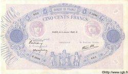 500 Francs BLEU ET ROSE modifié FRANCE  1940 F.31.55 TTB+