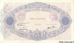500 Francs BLEU ET ROSE modifié FRANCE  1940 F.31.56 TTB+