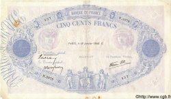 500 Francs BLEU ET ROSE modifié FRANCE  1940 F.31.57 TB
