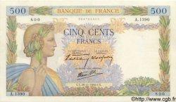 500 Francs LA PAIX FRANCE  1940 F.32.09 SPL