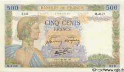 500 Francs LA PAIX FRANCE  1941 F.32.18 pr.NEUF