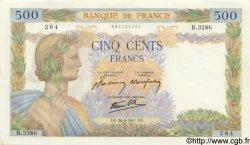 500 Francs LA PAIX FRANCE  1941 F.32.19 pr.NEUF
