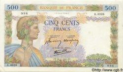 500 Francs LA PAIX FRANCE  1941 F.32.24 pr.NEUF