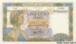 500 Francs LA PAIX FRANCE  1942 F.32.41