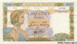 500 Francs LA PAIX FRANCE  1943 F.32.44 NEUF