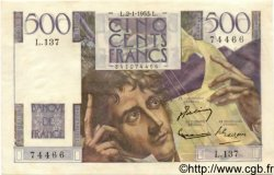 500 Francs CHATEAUBRIAND FRANCE  1953 F.34.11 SUP