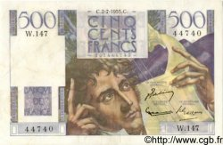 500 Francs CHATEAUBRIAND FRANCE  1953 F.34.13a TTB