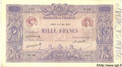 1000 Francs BLEU ET ROSE FRANCE  1892 F.36.04 SUP