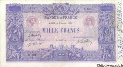 1000 Francs BLEU ET ROSE FRANCE  1920 F.36.35 TTB