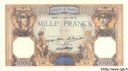 1000 Francs CÉRÈS ET MERCURE FRANCE  1930 F.37.05 SUP+