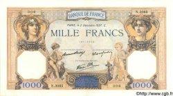 1000 Francs CÉRÈS ET MERCURE type modifié FRANCE  1937 F.38.05 SUP+