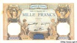 1000 Francs CÉRÈS ET MERCURE type modifié FRANCE  1937 F.38.06 SUP