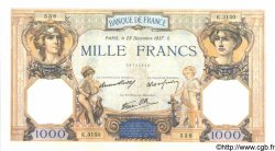 1000 Francs CÉRÈS ET MERCURE type modifié FRANCE  1937 F.38.08 SUP+