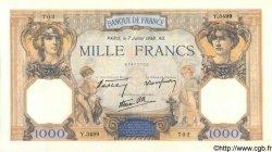 1000 Francs CÉRÈS ET MERCURE type modifié FRANCE  1938 F.38.22 SUP+