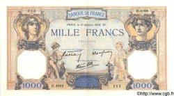 1000 Francs CÉRÈS ET MERCURE type modifié FRANCE  1938 F.38.29 SPL