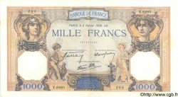 1000 Francs CÉRÈS ET MERCURE type modifié FRANCE  1939 F.38.34 SPL+