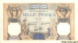 1000 Francs CÉRÈS ET MERCURE type modifié FRANCE  1939 F.38.37 SUP+