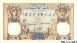 1000 Francs CÉRÈS ET MERCURE type modifié FRANCE  1940 F.38.45 pr.NEUF