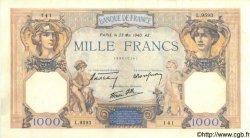 1000 Francs CÉRÈS ET MERCURE type modifié FRANCE  1940 F.38.47 TTB+
