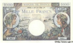 1000 Francs COMMERCE ET INDUSTRIE FRANCE  1944 F.39.09 SPL