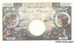 1000 Francs COMMERCE ET INDUSTRIE FRANCE  1944 F.39.09 SPL