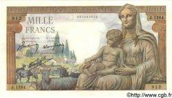 1000 Francs DÉESSE DÉMÉTER FRANCE  1942 F.40.07 SPL+