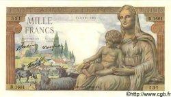1000 Francs DÉESSE DÉMÉTER FRANCE  1942 F.40.09 SPL+